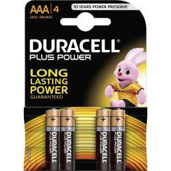 Duracell Plus Alkaline MN2400 size ministilo AAA LR03 Blister 4 pezzi, confezione da 10 Blister