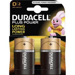 Duracell Plus Alkaline MN1300 size D Torcia LR20 Blister 2 pezzi, confezione da 10 Blister.