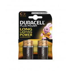 Duracell Plus Alkaline MN1400 size C mezzatorcia LR14 Blister 2 pezzi, confezione da 10 Blister.