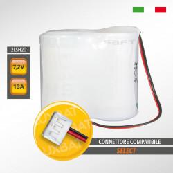 Pacco batteria al Litio SAFT 2LSH20 7.2V 13Ah compatibile SELECT, codice batteria SBT03