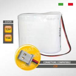 Pacco batteria al litio SAFT 2LSH20 7.2V 13Ah compatibile CSI