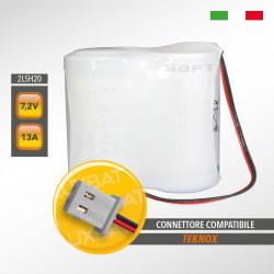 Pacco batteria al litio SAFT 2LSH20 7.2V 13Ah compatibile TEKNOX