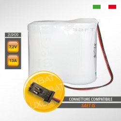 Pacco batteria al litio SAFT 2LSH20 7.2V 13Ah compatibile SAET IS