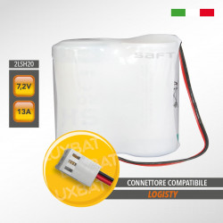 Pacco batteria al litio SAFT 2LSH20 7.2V 13Ah compatibile LOGISTY (Bat02)