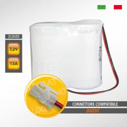 Pacco batteria al litio SAFT 2LSH20 7.2V 13Ah compatibile DUEVI