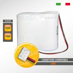 Pacco batteria al litio SAFT 2LSH20 7.2V 13Ah compatibile AMC