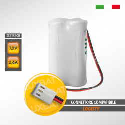Pacco Batteria al Litio SAFT 2LS14500 7,2V 2,6Ah compatibile LOGISTY (Bat05)
