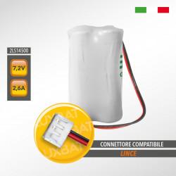 Pacco Batteria al Litio SAFT 2LS14500 7,2V 2,6Ah compatibile LINCE
