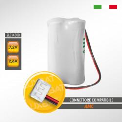 Pacco Batteria al Litio SAFT 2LS14500 7,2V 2,6Ah compatibile AMC