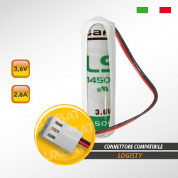 Batteria al Litio SAFT LS14500 3,6V 2,6Ah compatibile LOGISTY (Bat06)