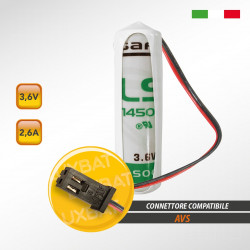 Batteria al Litio SAFT LS14500 3,6V 2,6Ah compatibile AVS