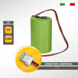 Batteria al Litio Duracell CR2 3V 0,8Ah compatibile CSI