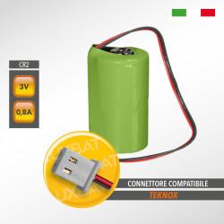 Batteria al Litio Duracell CR2 3V 0,8Ah compatibile TEKNOX, codice batteria: PI03LIC2