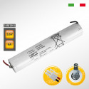 Pacco batteria SAFT 3VNTDHU Ni-Cd per lampade d'emergenza, 3,6V 4000mAh alta temperatura