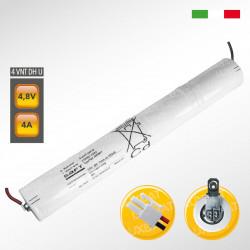 Pacco batteria SAFT 4VNTDHU Ni-Cd per lampade d'emergenza, 4,8V 4000mAh alta temperatura