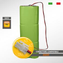 Pacco batteria alcalina MN-9V 12Ah compatibile DUEVI codice batteria: 0PL0027 per TOP e GLOBAL