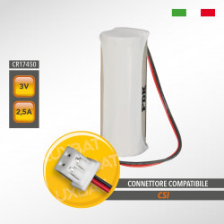 Batteria al Litio FDK CR17450SE 3,0V 2,5Ah compatibile CSI - Centro Sicurezza Italia