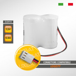 Pacco batteria al litio SAFT 2LSH14 7.2V 5,8Ah compatibile LOGISTY