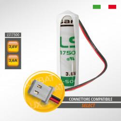Batteria al Litio SAFT LS17500 3,6V 3,6Ah compatibile SELECT codice batteria SBT13