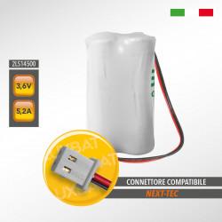 Pacco Batteria al Litio SAFT 2LS14500 3,6V 5,2Ah compatibile NEXTEC codice batteria: NRB40