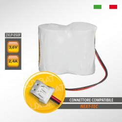 Pacco Batteria al Litio XENO ENERGY 2XLP-050F 3,6V 2,4Ah compatibile NEXT-TEC