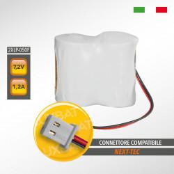 Pacco Batteria al Litio XENO ENERGY 2XLP-050F 7,2V 1,2Ah compatibile NEXT-TEC