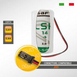Batteria al Litio SAFT LSH14 3,6V 5,8Ah compatibile AVS