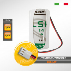 Batteria al Litio SAFT LSH14 3,6V 5,8Ah compatibile LOGISTY (Bat01)