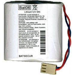 Batteria al Litio BATSECUR, BAT06 7,2V 5Ah compatibile LOGISTY, DAITEM