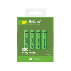 Batteria Ricaricabile GP BATTERIES AAA 650mAh RECYKO blister 4 pz per cordless