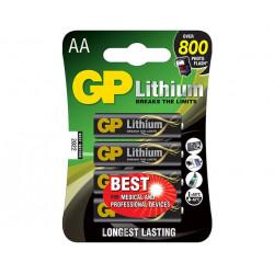Batteria al Litio NON Ricaricabile GP15LF-C4 1,5V stilo AA GP BATTERIES blister 4 pz