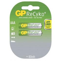 Batteria Ricaricabile Ni-Mh GP BATTERIES AAA 850mAh RECYKO blister 2 pz GP850AAAH-C2