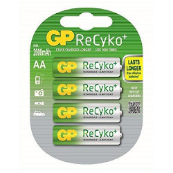 Batteria Ricaricabile GP BATTERIES AA 2000mAh RECYKO blister 4 pz GP210AAH-C4