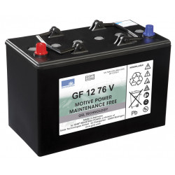 SONNENSCHEIN GF 12-076V 12V 76Ah (C5) 86Ah (C20) Batteria al GEL trazione leggera - 700 CICLI