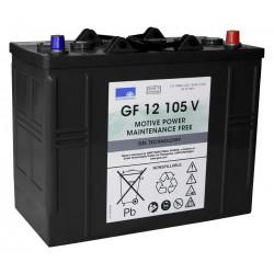 SONNENSCHEIN GF 12-105V 12V 105Ah (C5) 120Ah (C20) Batteria al GEL trazione leggera - 700 CICLI