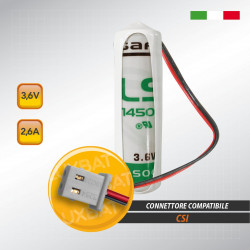 Batteria al Litio SAFT LS14500 3,6V 2,6Ah compatibile CSI