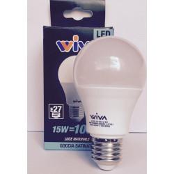 Goccia E27 15W 4000K Lampadina LED WIVA codice: 12100238