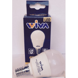 Sfera E14 6W 3000K Lampadina LED WIVA codice: 12100228