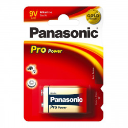 PANASONIC 6LR61 Transitor 9V blister Pro-Power, confezione da 12 blister