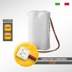 Pacco Batteria al Litio SAFT 2LS14500 7,2V 2,6Ah compatibile ELMO