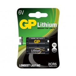 2CR5 6V 1,4Ah Batteria al Litio GP Batteries in blister