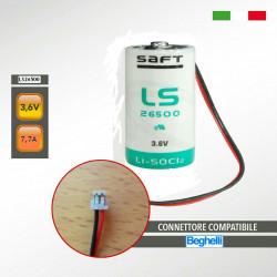 BEGHELLI 8696 LS26500 SAFT 3,6V 7,7Ah Batteria al litio