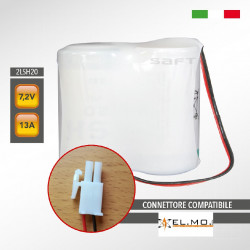 Pacco batteria al litio SAFT 2LSH20 7.2V 13Ah compatibile ELMO