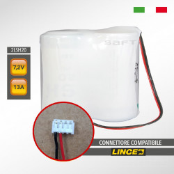 LINCE 2LSH20 SAFT 7.2V 13Ah Pacco batteria al litio