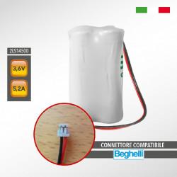 BEGHELLI 81308 2LS14500 SAFT 3,6V 5,2Ah Pacco Batteria al Litio