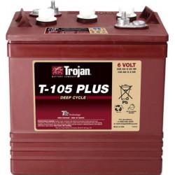 TROJAN T105 6V 225Ah (C20) Batteria al Piombo per uso ciclico T-105