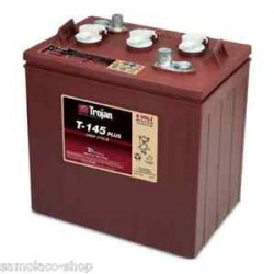 TROJAN T145 6V 260Ah (C20) Batteria al Piombo per uso ciclico T-145, Terminali tipo 1,2,3,4
