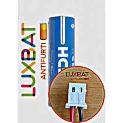 BEGHELLI 8131 ER14505 3,6V 2.5Ah Batteria al Litio HCB con connettore BEGHELLI - compatibile con SAFT LS14500
