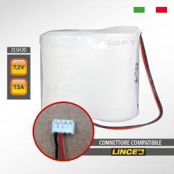 Pacco batteria al litio SAFT 2LSH20 7.2V 13Ah compatibile LINCE