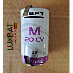SAFT M20CV 3V 12,5Ah Batteria al litio con terminali a saldare